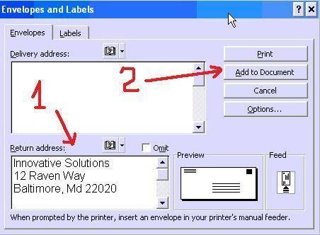 Hvordan lage returadresse-etiketter med utklipp
