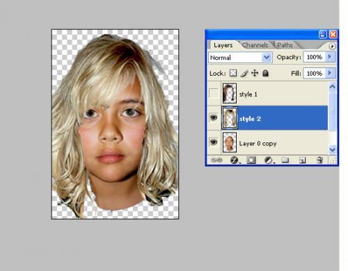 Hvordan endre frisyrer i Photoshop