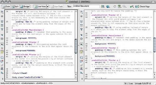 Hvordan bruke Dreamweaver CS4 horisontal og vertikal Delt visning