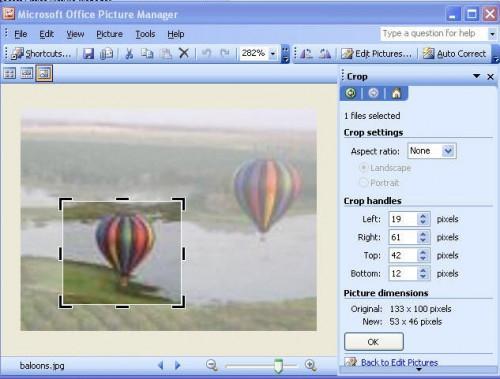 Hvordan beskjære et bilde ved hjelp av Microsoft Picture Manager