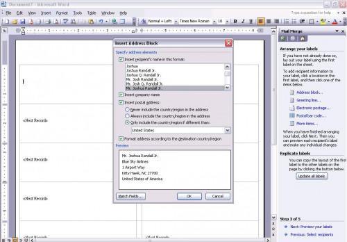 Hvordan lage postetikett fra Outlook-kontakter