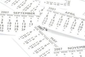 Hvordan lage en kalender ved hjelp av Excel